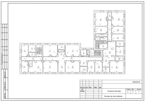 Образец проекта перепланировки нежилого помещения